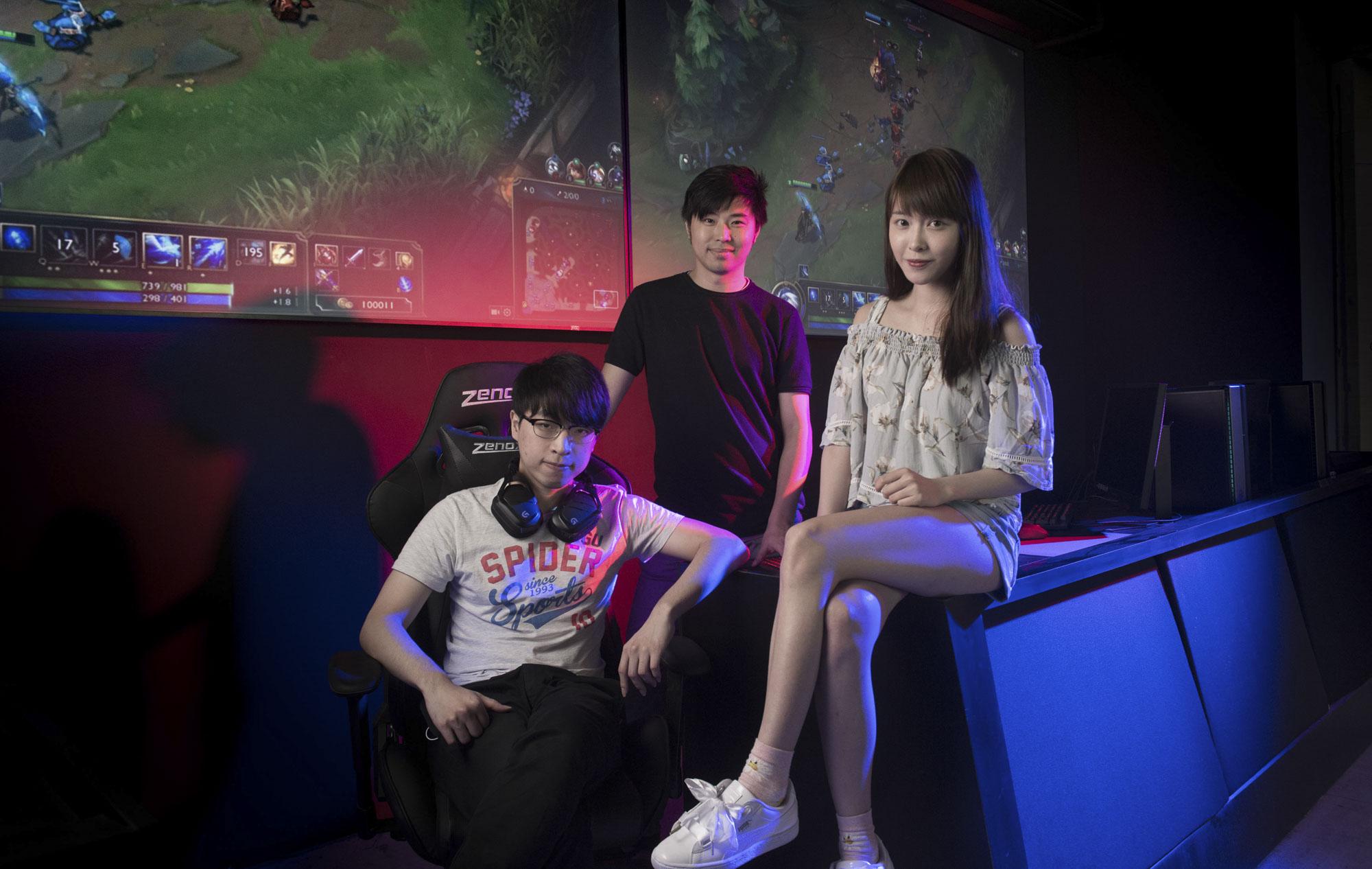 Hong Kong e-Sports gamers LOFS, Ryan Chow and Deer
